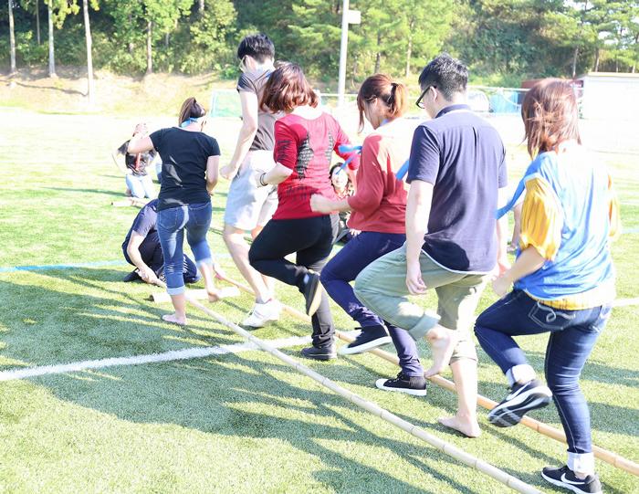 軽スポーツ大会バンブーダンス